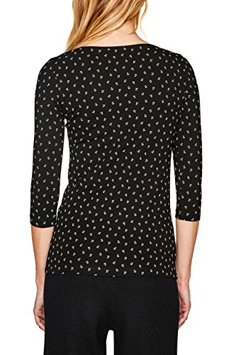 Esprit, T-Shirt à Manches Longues Femme Multicolore (Black 2 002)