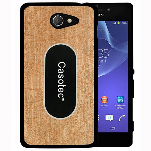 Casotec Metal Back TPU Back Case Cover for Sony Xperia M2 - Gold  available at amazon for Rs.149