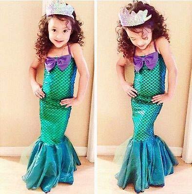 Hiswill Prinzessin Ariel Kleid Cosplay kostüm Kinder für mädchen schicken grünen Kleid