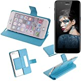 K-S-Trade Flipcover für TP-LINK Neffos N1 Schutz Hülle Schutzhülle Flip Cover Handy case Smartphone Handyhülle blau