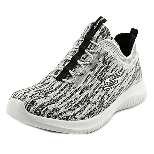 Skechers Ultra Flex-Bright Horizon, Allenatori Donna Bianco (White Black)