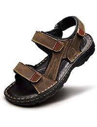 QIDI Sandales Antidérapantes Anti-dérapantes Noires Marron Rouge Plage Chaussures (Couleur : Marron, taille : EU42/UK8.5)