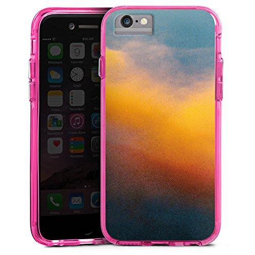 Apple iPhone 6s Bumper Hülle Bumper Case Glitzer Hülle Wolken Himmel Sonnenuntergang Bumper Case transparent pink