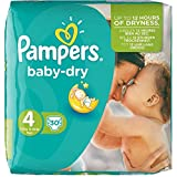 PAMPERS Pack 30 Couches baby-dry Taille 4 Maxi 7-18 kg