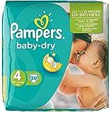Pampers Windeln Baby Dry Größe 4 Maxi (7-18kg) Sparpack