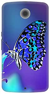 The Racoon Lean printed designer hard back mobile phone case cover for Google Nexus 6. (lovely but)