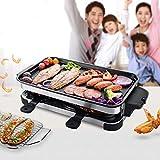 Raclette Elektrogrill Grill Antihaft Aluminium Entfernbar BBQ Tablett Draussen Tragbar Multifunktion...