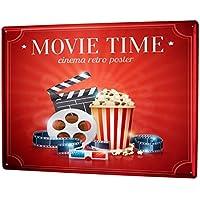 Blechschild Nostalgie Kinoticket Reklame & Werbung für Sammler