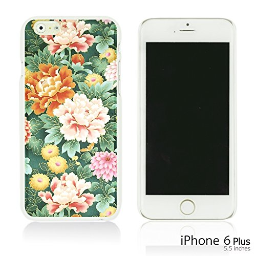 OBiDi - Fabric Pattern Hard Back Case / Housse pour Apple iPhone 6 Plus / 6S Plus (5.5)Smartphone - Pink Boho Pattern Pink Floral Fabric Prints