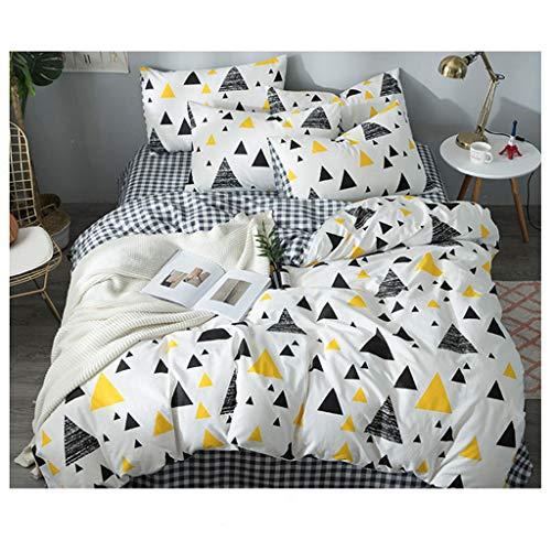 Bettwäsche dreiteilige 100% Baumwollgewebe Quilt Kissenbezug Bettwäsche AB Face Double Version Design -