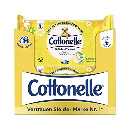 Cottonelle Feuchtes Toilettentücher Natürlich Pflegend Nachfüllpack,12er Pack (12x 42 Tücher) -