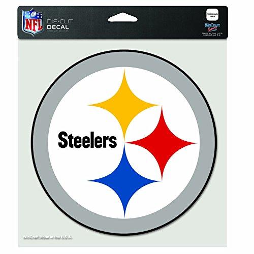 Wincraft NFL Pittsburgh Steelers gestanzte Farbe, 20 x 20 cm, Teamfarbe