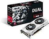 ASUS DUAL-RX480-O4G Radeon 4 GB RX 480 Dual OC GDDR5 Graphics Card - Grey
