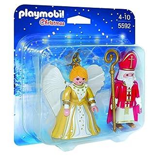 PLAYMOBIL – Christmas San Nicolás y Ángel de Navidad Playsets de Figuras de jugete, Color Multicolor (5592)