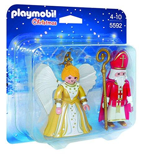 PLAYMOBIL - Christmas San Nicolás y Ángel de Navidad Playsets de Figuras de...