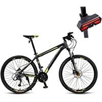Huoduoduo Bicicleta, Bicicleta De Montaña, 27.5 Pulgadas De 27 De Velocidad De Disco Doble