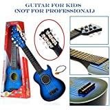Flick In Guitar Toys For Kids Fully Functional With Pick|6 String Classical Blue Big Size Guitar Toy |Musical Acoustic Guitar With Adjustable Tunning Knob |Musical Instruments For Beginners Boys|High Quality Plastic Guitar Toy 21 Inch With Wood Finish For