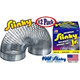 POOF-Slinky Model #125 Original Metal Slinky Jr. Junior (Silver) - 12 Pack by Poof Slinky