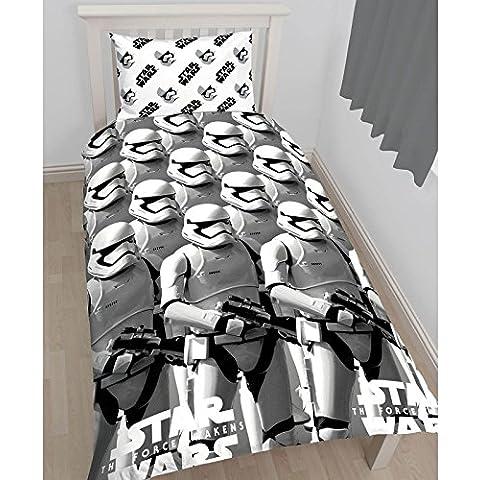 Juego de funda nórdica y de almohada para cama individual de Star Wars Episode VII The Force Awakens con estampado de