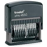 Trodat Printy 48313 - Sello para cifras (13 cifras, tamaño de tipo 3,8 mm) color negro