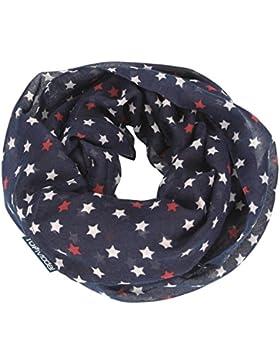 TOPModel Loop sciarpa, blu scuro con motivo di stelle