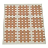 Kinesiologie Gittertape 2,7 cm x 2,1 cm 20 Bögen in Beige, Cross Tape, Cross Patches