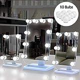 Luces LED Kit de Espejo con 10 Bombillas regulables, Sunvito 3 modos...