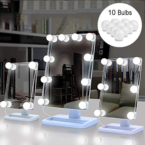 Luces LED Kit Espejo 10 Bombillas regulables, Sunvito