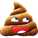 Doyime Weiches gelbes Rundkissen Emoji Smiley Emoticon Stofftier groß, coffee, Style 7