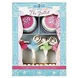Meri Meri - Kit decorativo per cupcake comprensivo di pirottini e topper, motivo ballerine