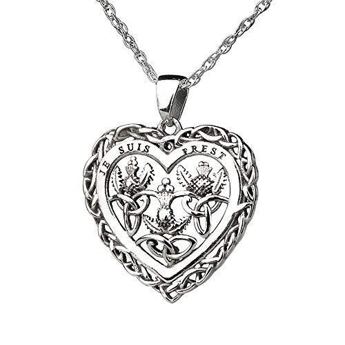 Je Suis Prest - Thistle & Heart Kette - keltisches Outlander Herz aus Schottland