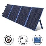 SARONIC Panneau Solaire Pliable Portatif 200W 12V avec Contrôleur de Charge Solaire 15A pour Système de Caravanes et Camping-cars, Bureaux 12V Mobiles (Bleu)