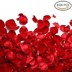 Decorazioni di San Valentino - 2000 romantici petali di rose artificiali, perfetti per matrimoni o anniversari