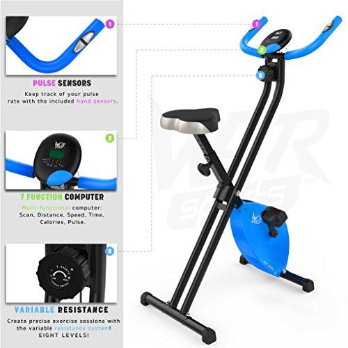 Hometrainer, X-Bike, zusammenklappbar, magnetisch, für Fitness, Cardio, Workout, Gewichtsabbau - 7
