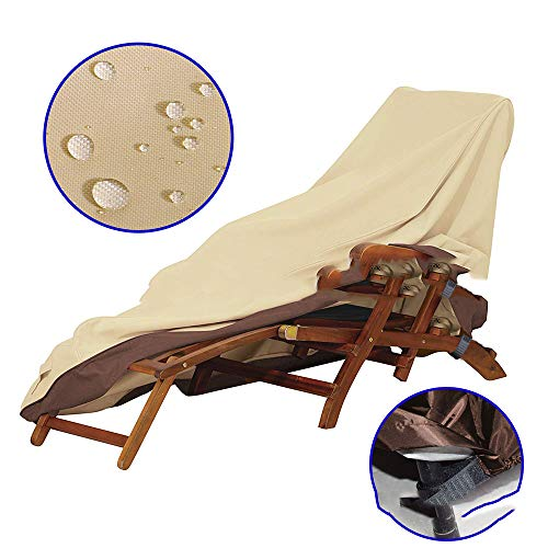 SMILINGGIRL Gartenmöbel-Set Abdeckung, 420D Oxford Stoff wasserdicht Schutzhülle für Terrasse Tisch und Stühle, Anti-Verblassen, Möbel Schutzhülle,198 * 90 * 84cm