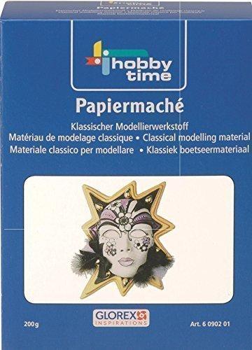 Papiermaché Modelliermasse - elfenbein 200g Pappmaché (Pappmaché Maske)