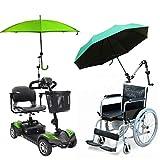 Gorkuor Regenschirm Outdoor-Schirm-Stand-Schirm-Stand-Baby-Auto-Anhänger-Verbindungsstück-Halter-Rohr-Stangen-Befestigungs-Klemmplatten-Rollstuhl-Roller by