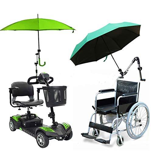 Gorkuor Regenschirm Outdoor-Schirm-Stand-Schirm-Stand-Baby-Auto-Anhänger-Verbindungsstück-Halter-Rohr-Stangen-Befestigungs-Klemmplatten-Rollstuhl-Roller by -
