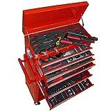vidaXL Werkzeugwagen Werkstattwagen mit Werkzeugsatz und 7 Schubladen Rollwagen