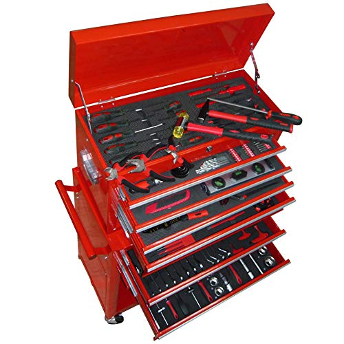 vidaXL Werkstattwagen Stahl 7 Schubladen mit Werkzeug Rollwagen Werkzeugwagen