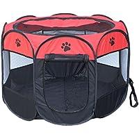 Cayuan Parque para Mascotas Octágono Plegable Jaula Perro Gato Portátil Interiores y Exteriores Caseta Impermeable Transpirable