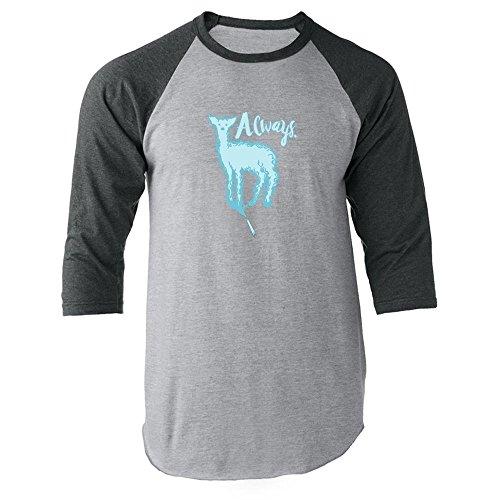 Pop Threads Always. Doe Patronus Movie Raglan Jersey T-Shirt by