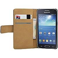 Membrane - Negro Cartera Funda Carcasa para Samsung Galaxy Grand 2 II (SM-G7102 Dual Sim / SM-G7105 LTE / SM-G7106) - Flip Case Cover