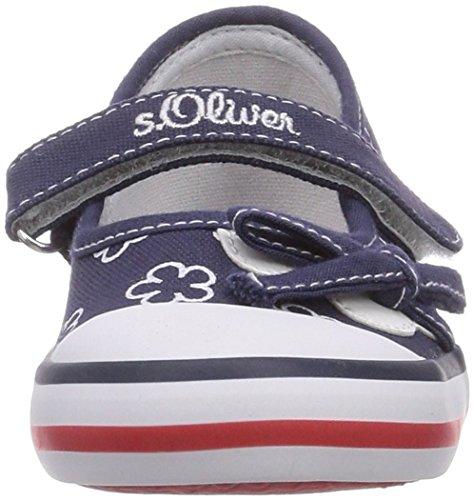 s.Oliver 32604, Mocassins fille Bleu - Blau (Navy/White 846)