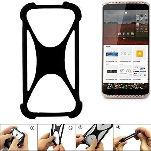 K-S-Trade Handyhülle ZTE Axon Mini Premium Edition Silikon Schutz Hülle Cover Case Bumper Silikoncase TPU Softcase Schutzhülle Smartphone Stoßschutz, schwarz (1x)