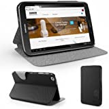 Anker Ultra Slim Case for Galaxy Tab 3 8.0-inch T3100 T3110 Tablet- Multi Angle Stand - Synthetic Leather with Smart Cover - Automatic Sleep / Wake (Black)