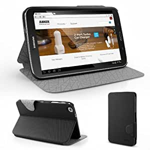Anker? Ultra Slim Galaxy Tab 3 8.0 Case Multi Angle Stand - Synthetic leather with smart cover - Automatic Sleep / Wake function for Samsung Galaxy Tab 3 8-Inch T3100 T3110 Tablet