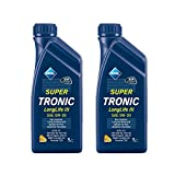 2x 1 L Liter Aral SuperTronic Longlife III 5W-30 Super Tronic Motor-Öl Motoren-Öl; Spezifikationen/Freigaben: ACEA C3; VW 504 00/ 507 00; BMW Longlife-04; MB-Freigabe 229.51; Porsche C30