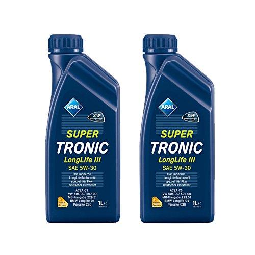 2x 1 L Liter Aral SuperTronic Longlife III 5W-30 Super Tronic Motor-Öl Motoren-Öl;...