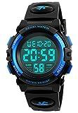 Digitale Sportuhr für Kinder, wasserdicht, mit Alarm, für Kinder, Jungen, Mädchen, Geschenk, LED, Kinderuhr, Blau